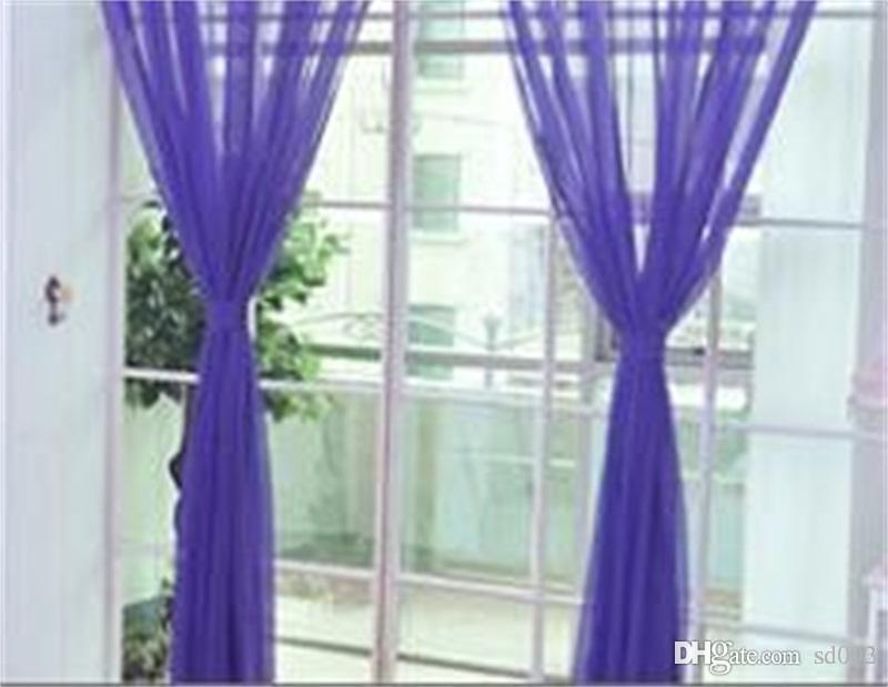 Pure Color Window Gauze For Home Living Room Bedroom Windows Ornament Sheer  Curtains For Wedding Party Decor Thin Drapes 7xs Ii Thermal Curtain Hotel  ...