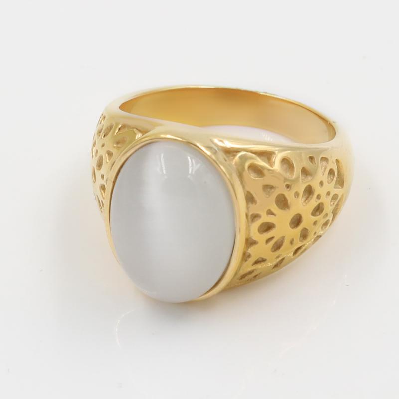 30x Cat Stainless Steel Rings Eye Stone Wedding Jewelry Men Women Ring Wholesale