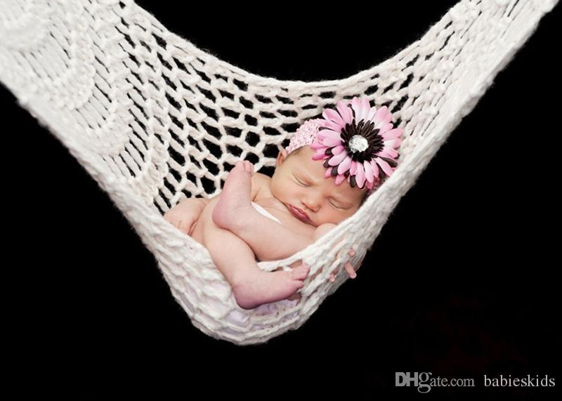 Baby Photography Hammock For Newborn Hanging Props Handmade Crochet Knitted New