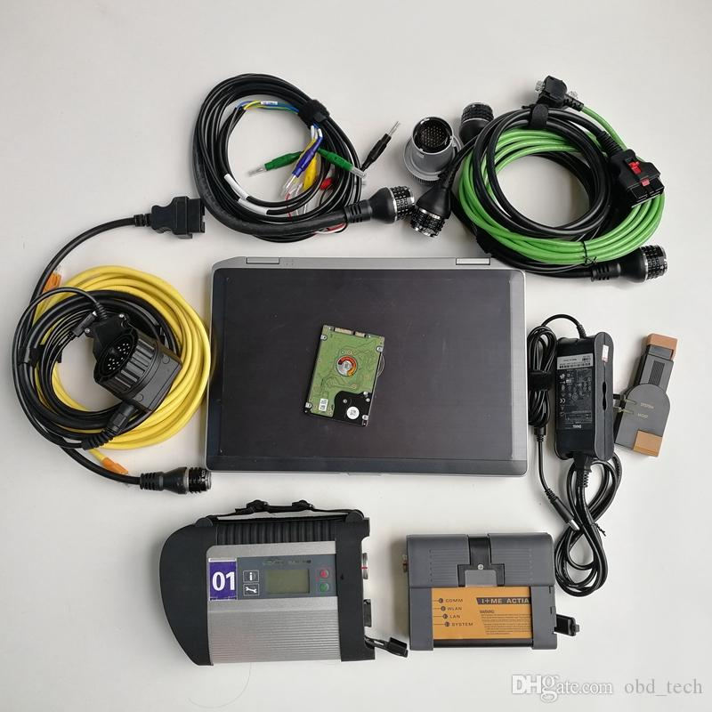 Automotivo Repair diagnostic tool Scanner Used laptop computer E6420 I5 4G+MB Star C4 SD Connect C4+Icom A2 a+b+c for BMW+1tb HDD