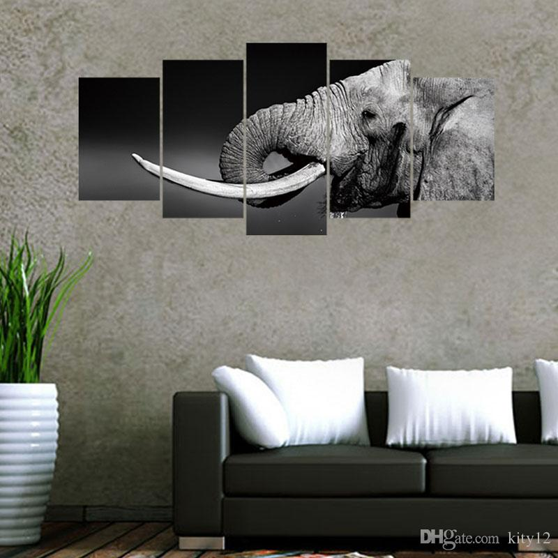 New Elephant Wall Stickers Removable Wall Decal Home Decor For Living Room TV Background Free shipping