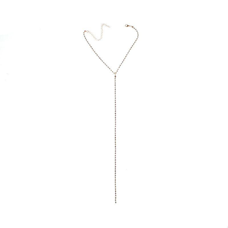 Модные Rhinestone колье Ожерелье для Женщин Колье Femme Chocker Ожерелье Y style Шейная Цепочка Женские Украшения