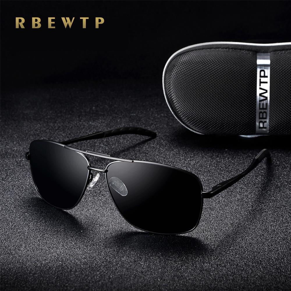 Venta al por mayor gafas de sol de los nuevos hombres de la vendimia polarizados hombres / mujeres que conducen gafas de visión nocturna oculos gafas de sol accesorios para hombres gafas