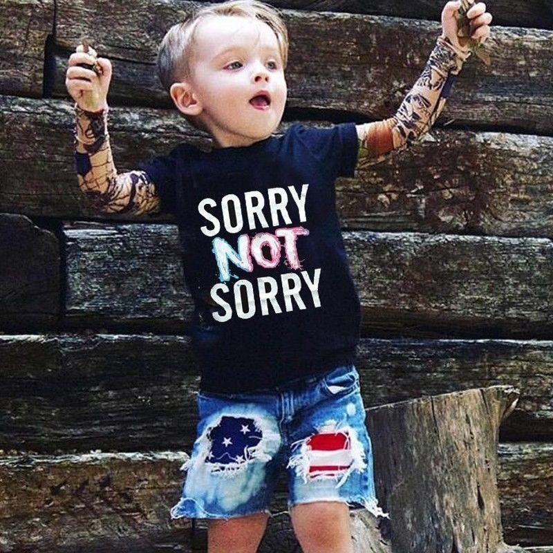 2018Cool 1-7yrsBaby Jungen Mädchen T shirts Tattoo Ärmel Kinder Mesh Langarm Baumwolle Tops Tees Kinder Kleinkinder Shirts Kleidung