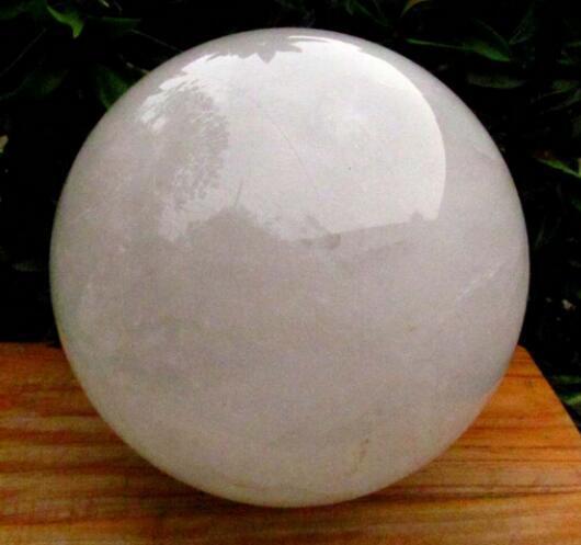 Curación esfera de la bola NATURAL cuarzo transparente CRISTAL