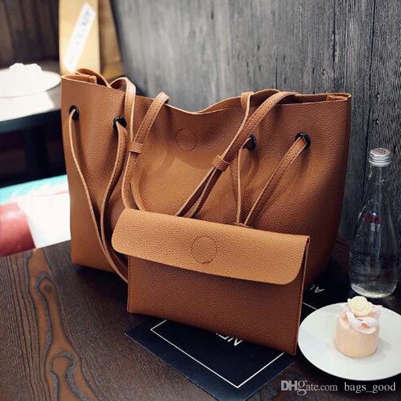 New Vintage Soft Leather Women Composite Bag Set Fashion Designer Female Shoulder Bags Big Casual Bags Set Handbag Womens Handbags Toting From Bags Good 27 67 Dhgate Com