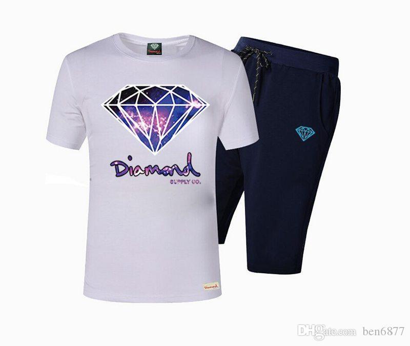 Vestito di hip hop di marca di stile di estate di 3200 s-5xl Stampato idoneità maglietta rapida asciutta degli uomini Camicie stabilite casuali T99