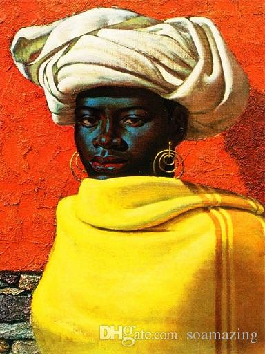 Multi Custom Sizes /Frame Available Vladimir Tretchikoff Handpainted / HD Print Swazi Girl FINE Art Oil Painting On Canvas P145