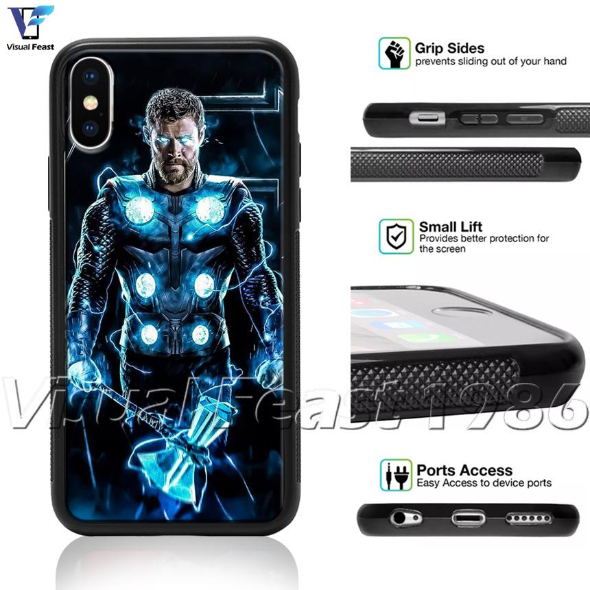 Thor Avengers Infinity War Phone Case Cover Hammer Power Movie Hero For iPhone 11 X i8/i8Plus i7/i7+ i6/i6s i6+/i6s Plus i5/i5s/SE i4/i4s T6