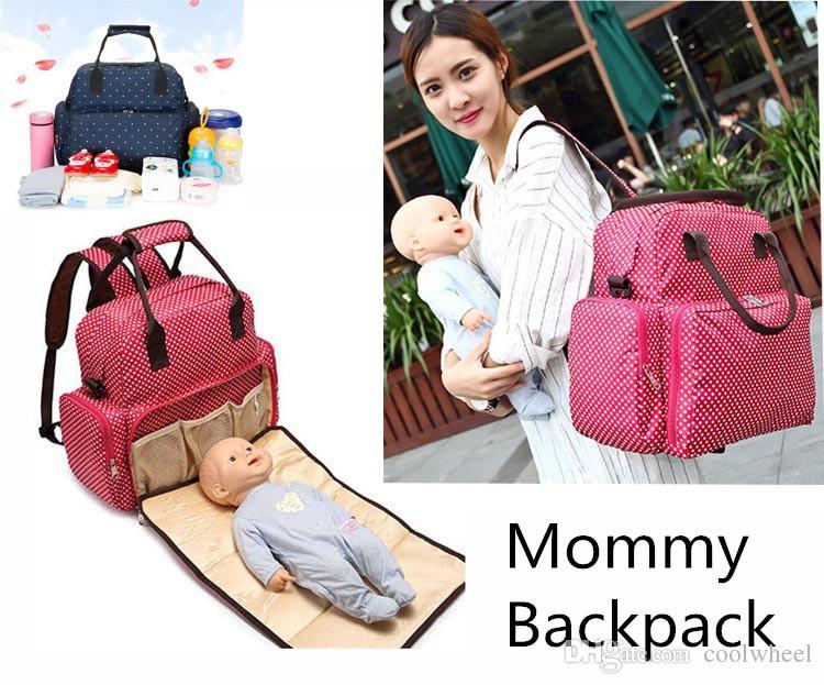 Mama Rucksack Handtaschen Schultertasche Mutter Mutterschaft Windel Windeln Taschen Große Kapazität Windel Taschen Outdoor Multicolors Rucksäcke