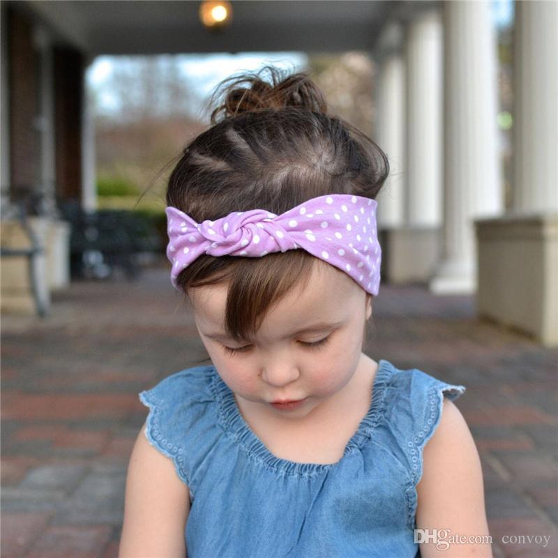 جديد طفل الفتيات التعثر عقدة رباطات أوروبا نمط الاطفال مطاطا القطن نقطة الشعر الفرقة الأطفال اكسسوارات الشعر الاطفال رباطات hairband kha559