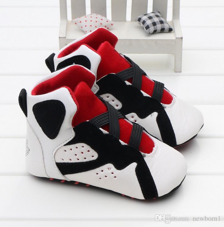 Art und Weise PU-lederner neugeborener Baby-Mädchen-Baby-weiche Schuh-weichbesohlter rutschfester Schuh