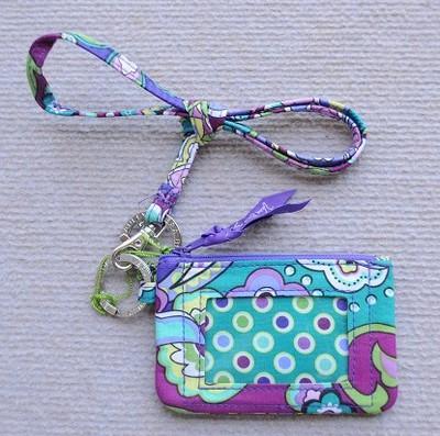 Estuche de identificación con soporte de tarjeta de identificación de cordón Estuche para tarjeta con billetera