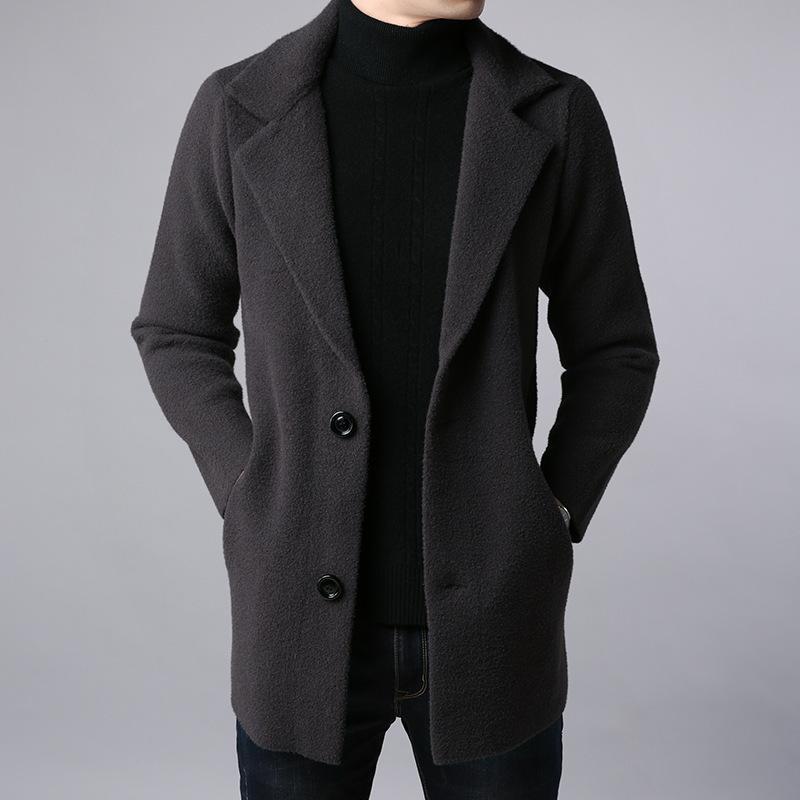 2018 casaco de lã dos homens para o outono-inverno dos homens longos trench coat de lã casuais mens casacos e jaquetas