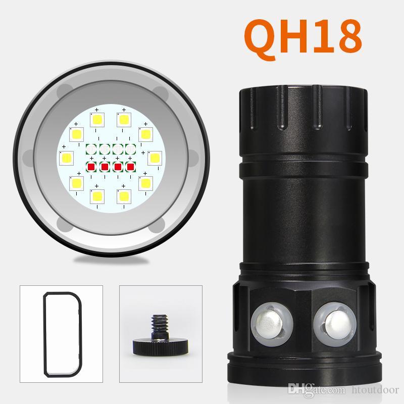 6шт QH18 120Вт 28800LM подводные 80M LED дайвинг фонарик профессиональный дайвинг фото Фотографии Видео заполняющий свет