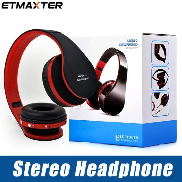 ETMAXTER NX-8252 DVD MP3 Süper Stereo Bas Etkisi Taşınabilir Kulaklık Katlanabilir Kablosuz Bluetooth Kulaklık Için iP 8 8 P X Samsung Note8