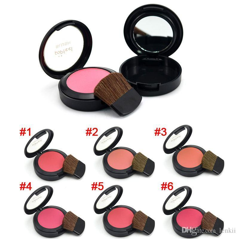 Natural Sweet Peach Blush Face Palette Make Up Blusher Sleek Rouge Cosmetics With Makeup Brushes Mirror FM88