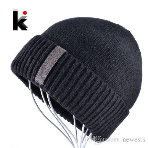 الرجال skullies الشتاء الصوف محبوك قبعة الذكور ماركة بيني كاب عارضة بلون مجموعات القبعات القبعات للرجال