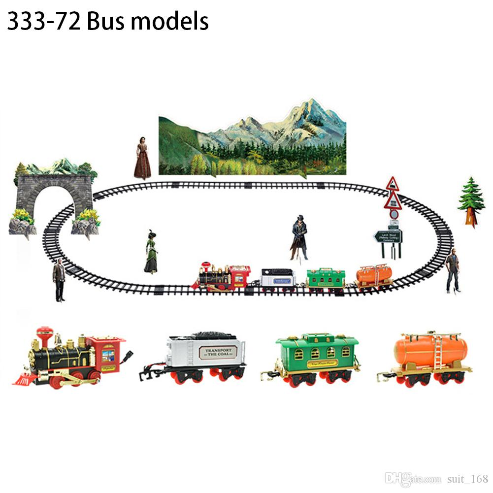 New RC Train Children's Traffic Toys Remote Control Conveyance Car Electric Steam Smoke RC Train Slot Set Model Toy For Kid Gift