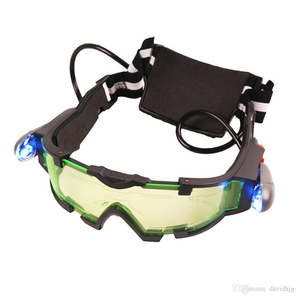 Super Fashon Estilo Quente legal Lente Verde Ajustável Elastic Band Óculos de Visão Noturna Óculos