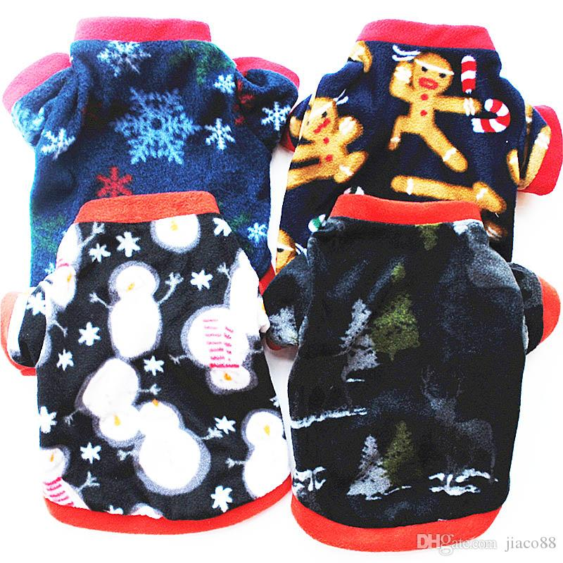 Warm Winter Pet Dog Coats Soft Christmas Halloween Gifts Clothes Dogs Apparel Soft Cotton Fleece Wear Clothing Small Pets Accessories Cloths