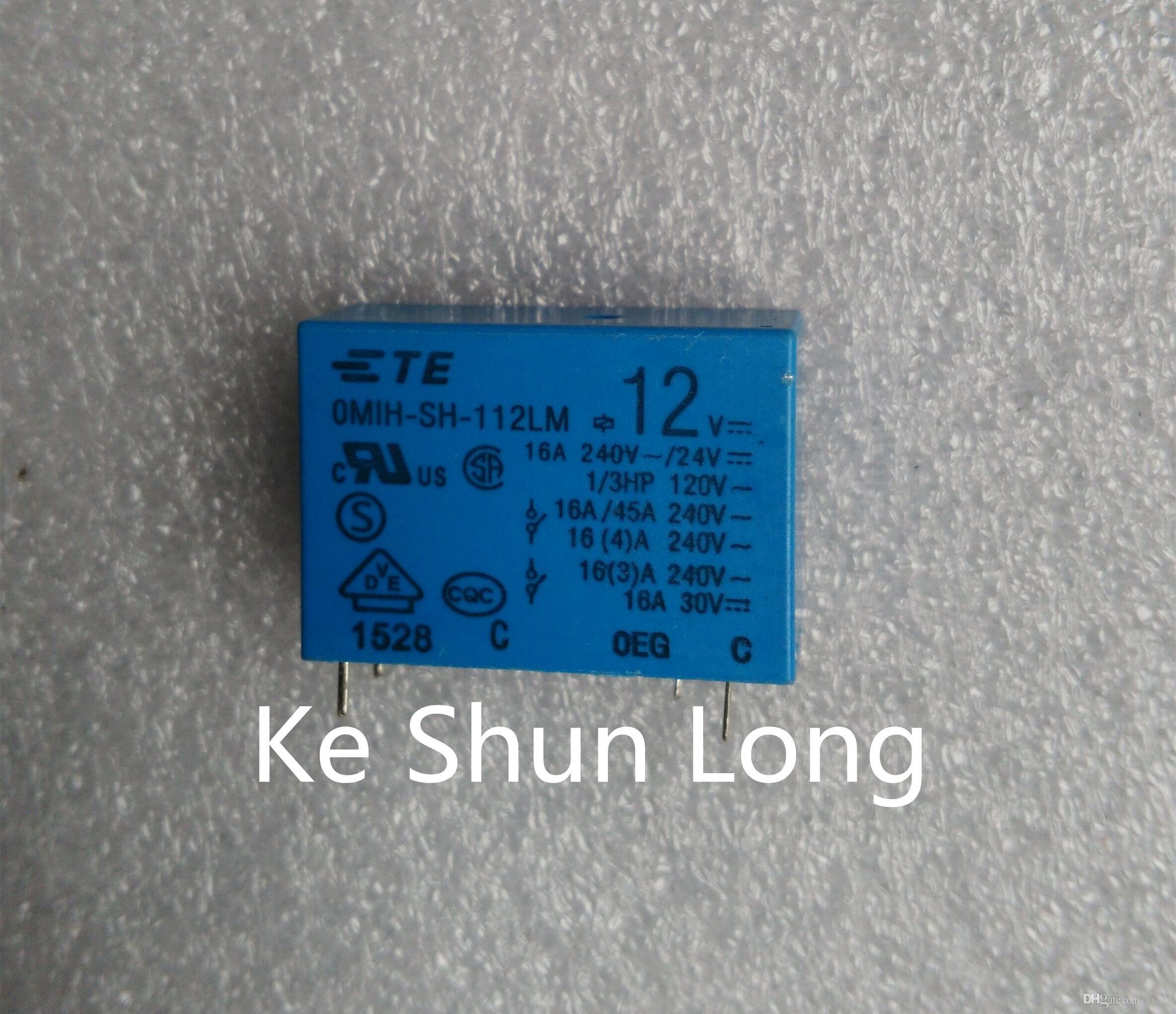 무료 배송 로트 (5 piece / lot) 100 % 오리지널 TE TYCO OEG OMIH-SH-112LM 12VDC OMIH-SH-124LM 24VDC 4PINS 16A DC12V DC24V Power Relay