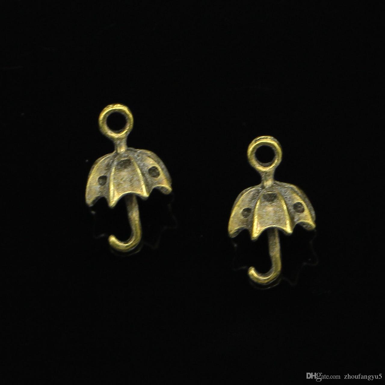 67 unids encantos de la aleación de zinc chapado en bronce antiguo 3D encantos del paraguas para la joyería que hace DIY colgantes hechos a mano 20 mm