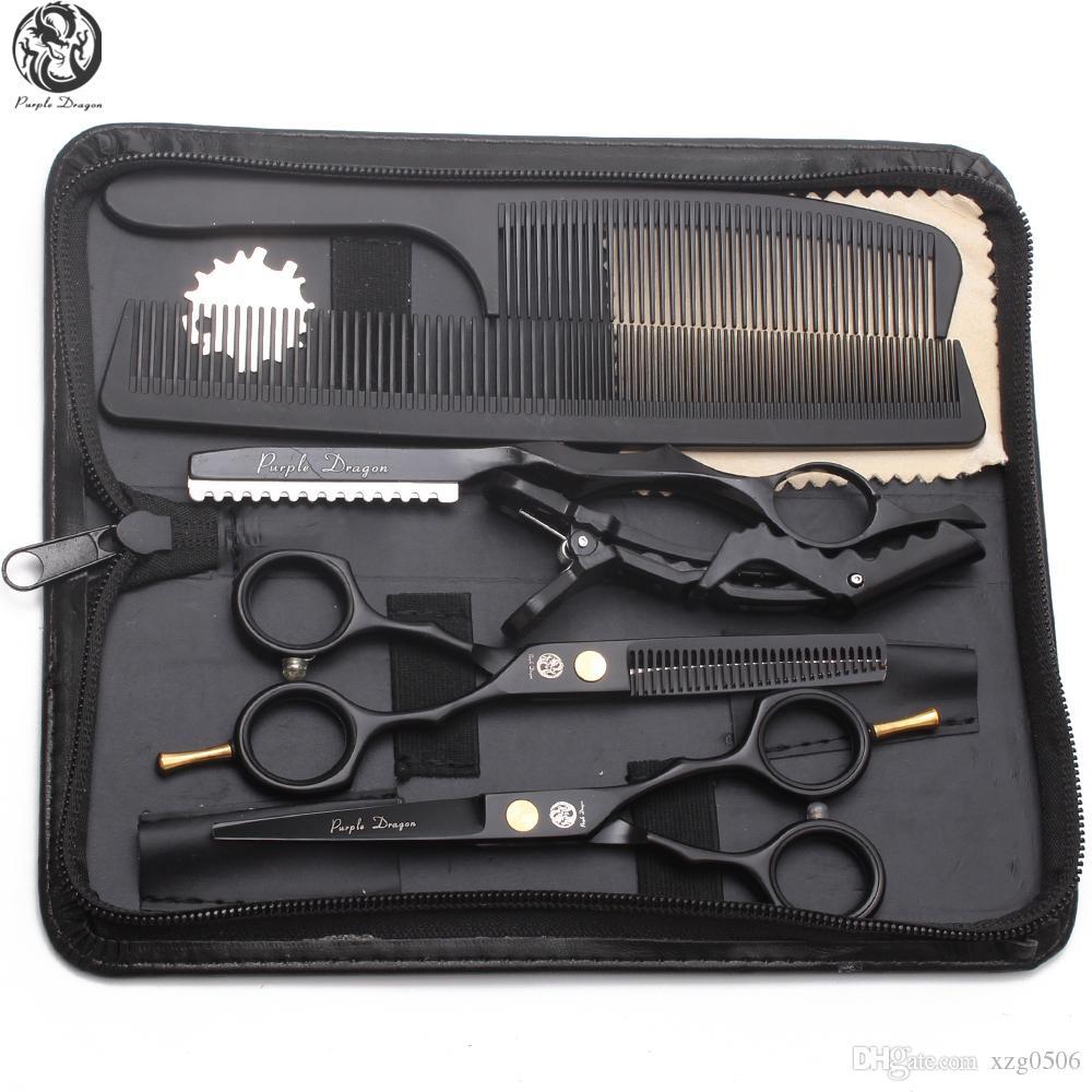 """Couper les cheveux Costume Ciseaux 5.5"""" 6"""" 440C Dilution Ciseaux Barber Makas coiffure Ciseaux Razor professionnel cheveux Ciseaux Promotion Z1104"""