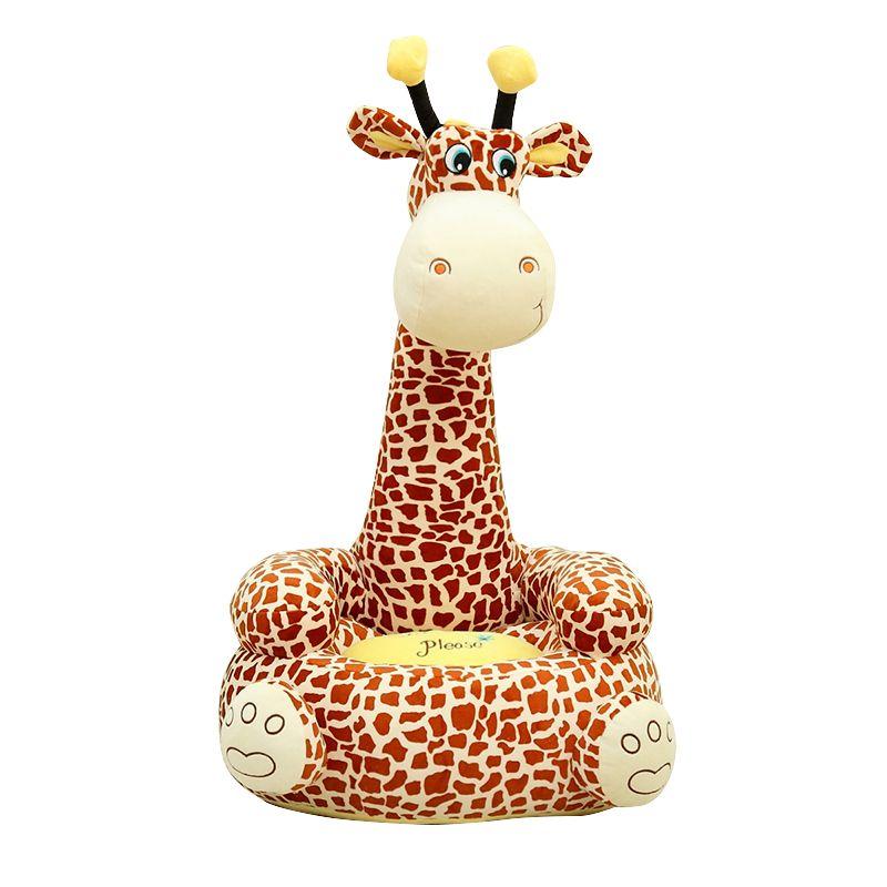 Dorimytrader Big Soft Giraffe Kids Sofa Cartoon Animals Cat Toy Baby Chair Kindergarten Seat 31inch 80cm DY60354