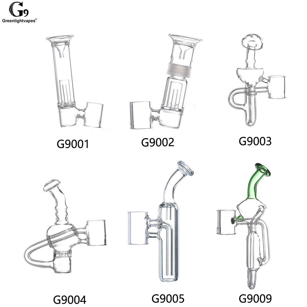 Greenlightvapes Bocal G9 Peça De Vidro Tubo De Filtro De Água Acessório Bubbler Adaptador para 510 Prego / Henail Plus / Mini Henail / TC Porto