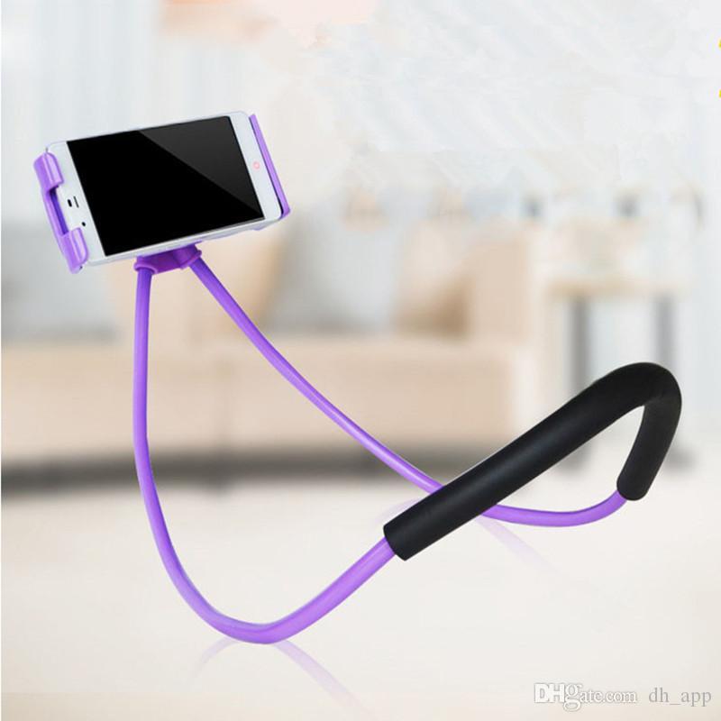 Soportes de teléfono celular perezoso Colgante Soportes de teléfono con cuello Soporte para teléfono móvil Soporte para soporte universal de Samsung para Iphone DHL gratis