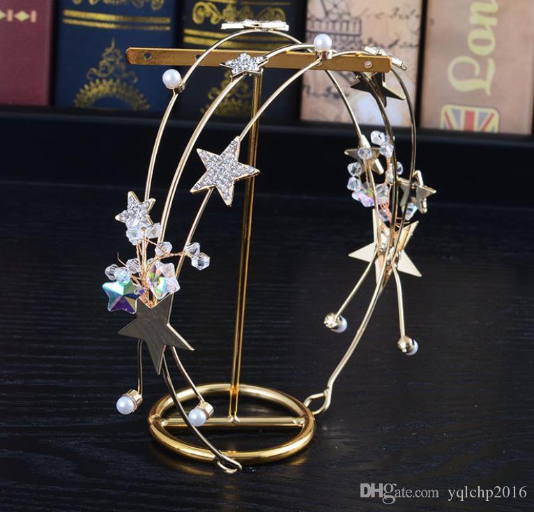 Bridal Headband hoop earring set made by hand, photo studio, headwear, crystal, diamond accessories.