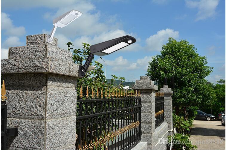 6.8W 48 luce solare del LED, Mulcolor Outdoor Wireless Solar Powered lampada da parete della luce con Modi intelligenti per giardino, patio e Pathway