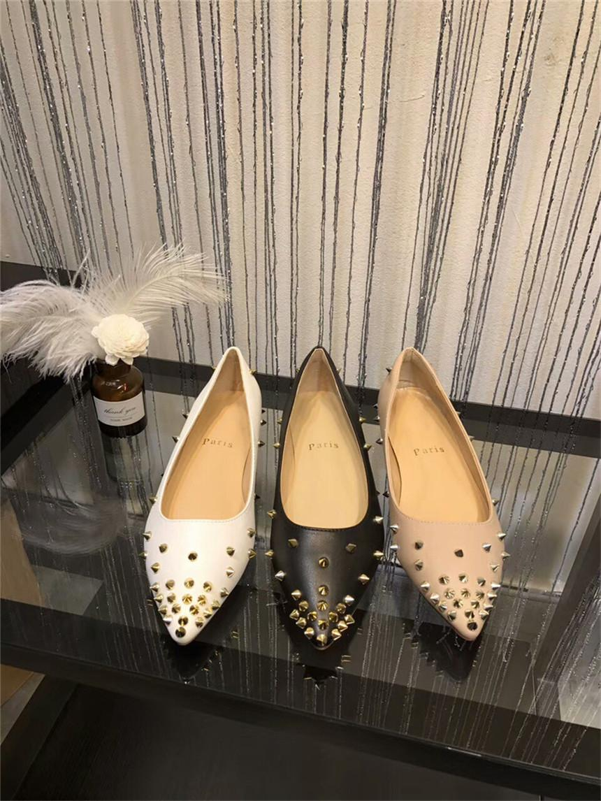 717ee5173 Cheap Red Bottom Sneakers Pointed Toe Studded Spikes Rivets Crystal Women  Wedding Shoes High-Heeled Shoes Luxury Brand Paris Designer Pumps