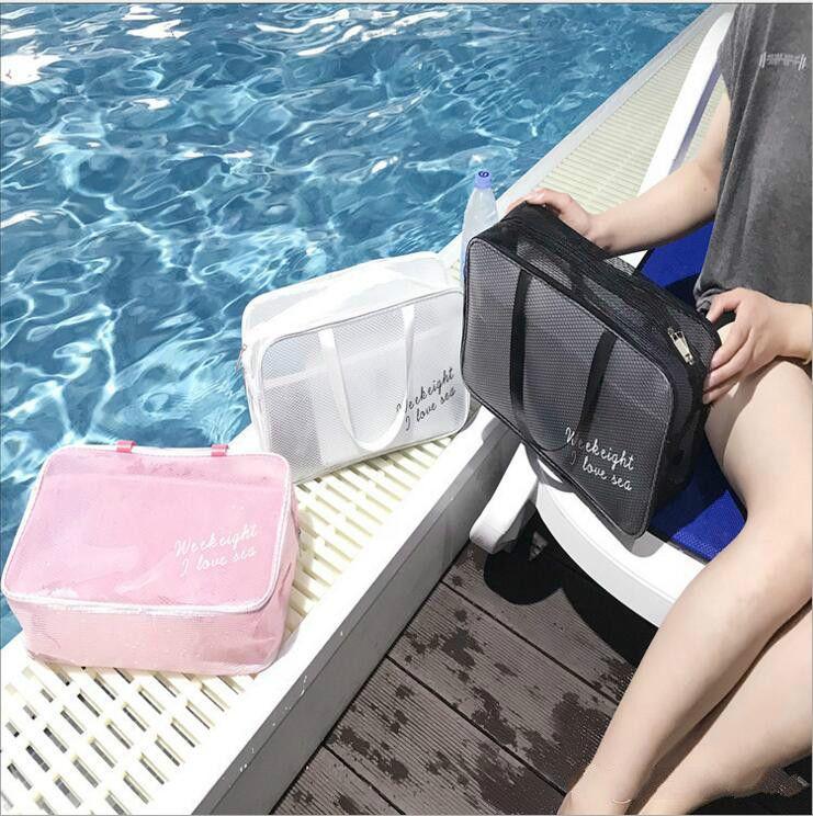 Plaj çantaları kuru ıslak ayırma erkek ve kadın su geçirmez çanta mayo banyo çantası kaplıca çantaları yüzme yıkama çantası spor çantası büyük