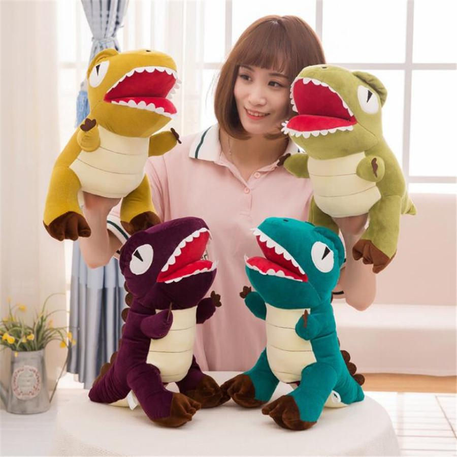 40 cm Story Learning Baby Kid Bambini Zoo di salto Dinosauro giocattoli di peluche Bambole animali mano guanto burattini carino regalo morbido Brinquedos