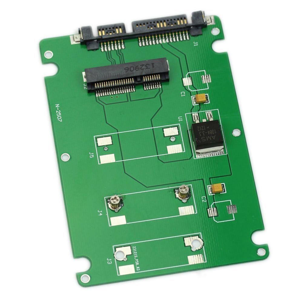 """Freeshipping 10pcs GTFS-50mm mini PCI-E mSATA SSD to 7mm 2.5"""" SATA 22pin Hard Disk Case Enclosure"""