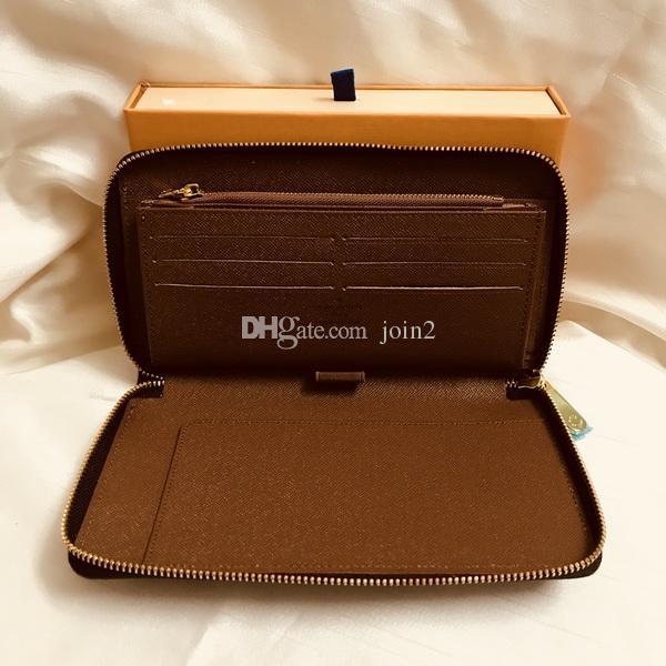 M60002 Luxury Designer Organizer Zippy Organizer Wallet Women's Zipper Long Wallet Mono Gram Canvers Leather Free Shipping Wholesale Price