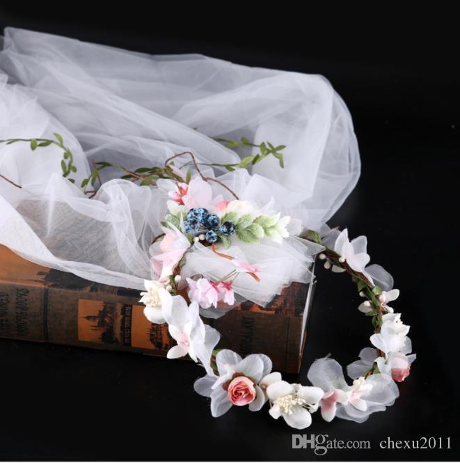 Guirnalda, velo, retrato, accesorios, tela, flores, pelo, novias, gorros, bodas.