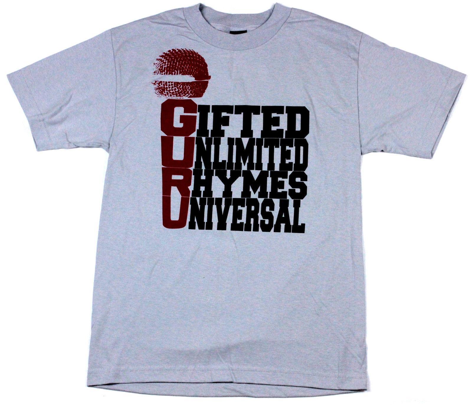 Mixerfriendly Guru silver t-shirt -BNWT- Gang Starr DJ Premier real Hip-Hop