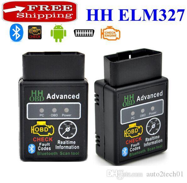 Spedizione Gratuita! V2.1 Mini Bluetooth ELM327 OBD HH OBDII Scanner Diagnostico Auto 3231Chip Funziona su Android / Symbian / Windows HH ELM327 Scanner