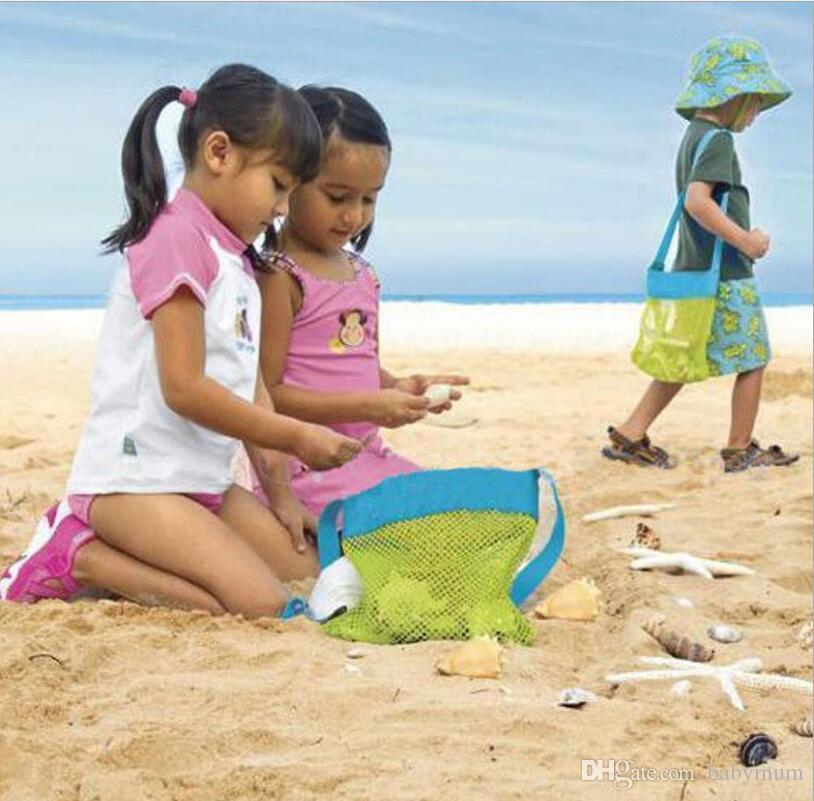 Child Travel Toys Storage Bag Kids Outdoor Mesh Bag Beach Sand Away Net Pouch