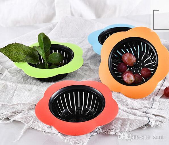 Fleur en forme de silicone cuisine évenance de cuissard douche évier drains couvre-évier Colandre coiffeur cheveux filtre accessoires de cuisine