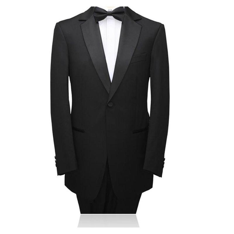 Black Wedding Suits 2018 Slim Fit 2 Pieces (Jacket+Pants) Men Suits Bridegroom Prom Wear Best Man Blazer