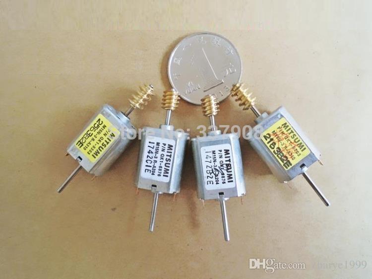 10PCS Mitsumi Series QK1 12V Micro Dc Motor Com Cobre Worm e Double Shaft Usado Para Toy Ou DIY