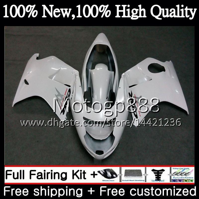 Обтекатель кузова глянцевый белый для HONDA Blackbird CBR1100 XX 02 03 04 05 06 07 53PG22 CBR1100XX CBR 1100XX 2002 2003 2004 2005 2006 2007