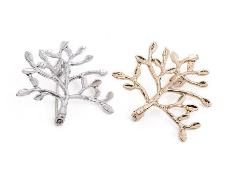Small Trees Brooch Pins Unisex Jewelry Metal Black White Painting Great Gift Idea Smile Face Pin Brooches