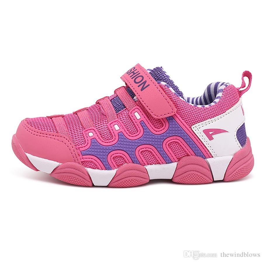 2018 Yeni Bahar Sonbahar Çocuk Ayakkabıları Erkek Sneakers Kızlar Spor Ayakkabı Pembe Tırtıl çocuklar Eğlence Ayakkabı Çocuk Koşu Eğitmenler