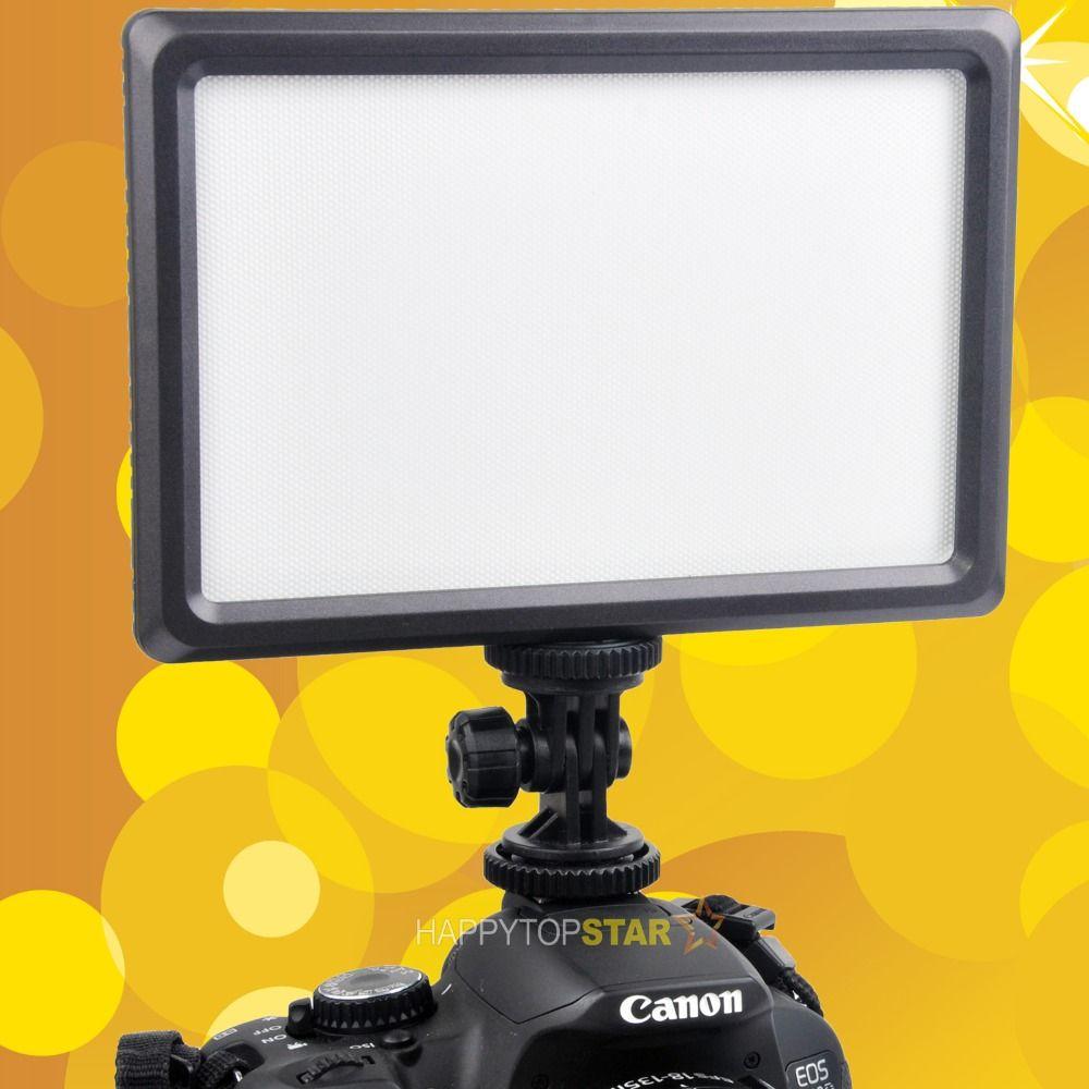 3200K~5600K CN-LUXPAD22 Ultra Thin Ultra Light 112 LED 11W LED Panel Video On Camera Hot Shoe Lamp Pad For Canon Nikon DSLR DV