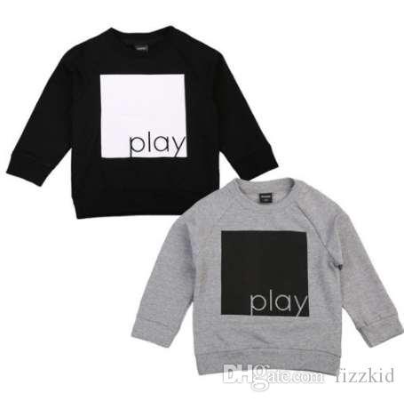 Pudcoco Autunm Baby Boy Girl толстовка пуловер теплый длинными рукавами футболка толстовки свитер одежды топы 1-6Y